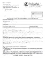 Church Exemption (BOE-262-A-H)