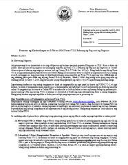 Notice of Requirement to File -- Regular Business (Tagalog - Paunawa ng Kinakailangan na I-File na Form 571-L Pahayag ng Pag-aari ng Negosyo)