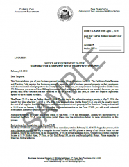 Notice of Requirement to File -- Apartment House
