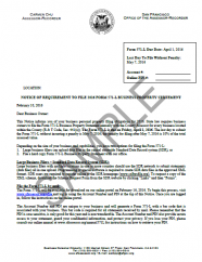 Notice of Requirement to File -- Financial Institution, Insurance, & Leasing Companies